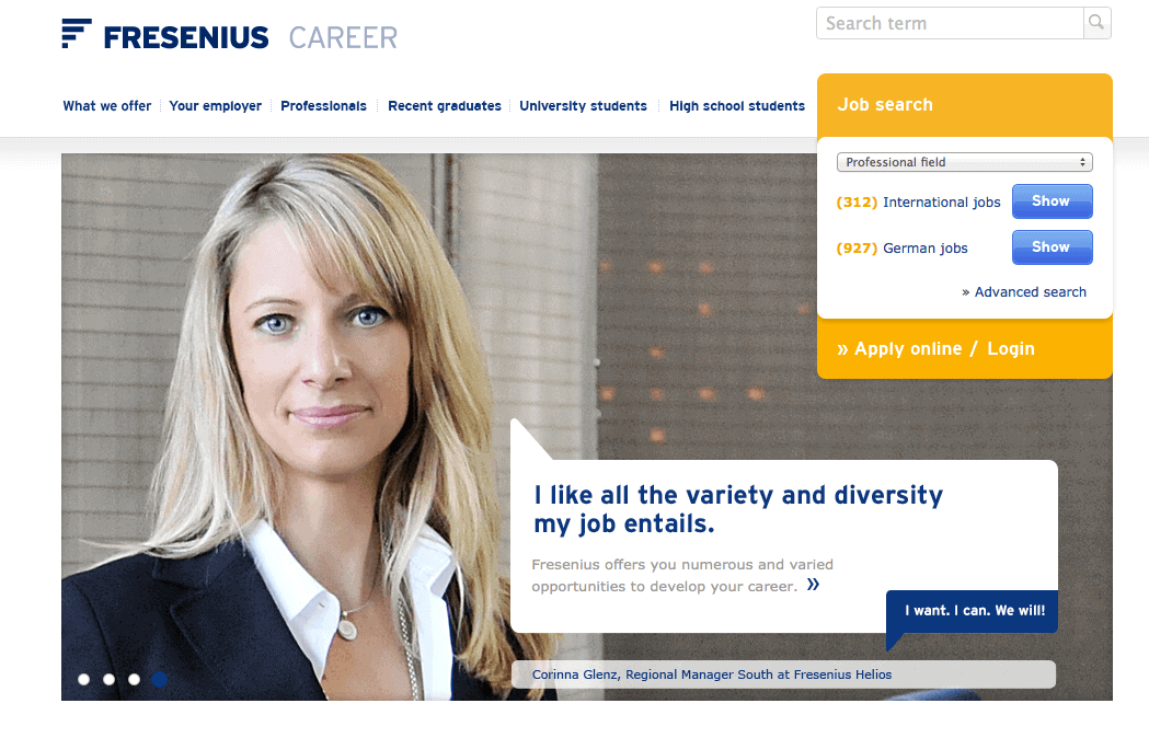 Fresenius online application